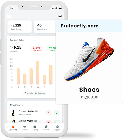 Ecommerce business management becomes easy with Builderfly's seller app; it's free and the best to carry your entire business on your mobile phone.