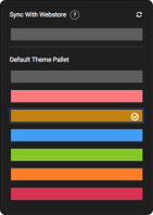 Color pallet to customize the store