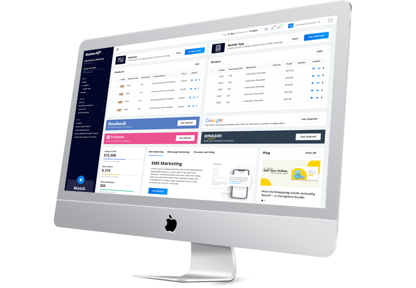 Live stream your business channel with Builderfly Ecommerce Platform and sell your products online with increased sales.