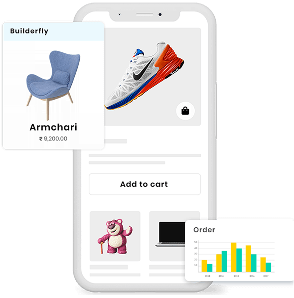 Builderfly lets their users establish a stunning ecommerce store with native iOS as well as Android mobile apps with the easy-to-use builder provided for free with all the best features.