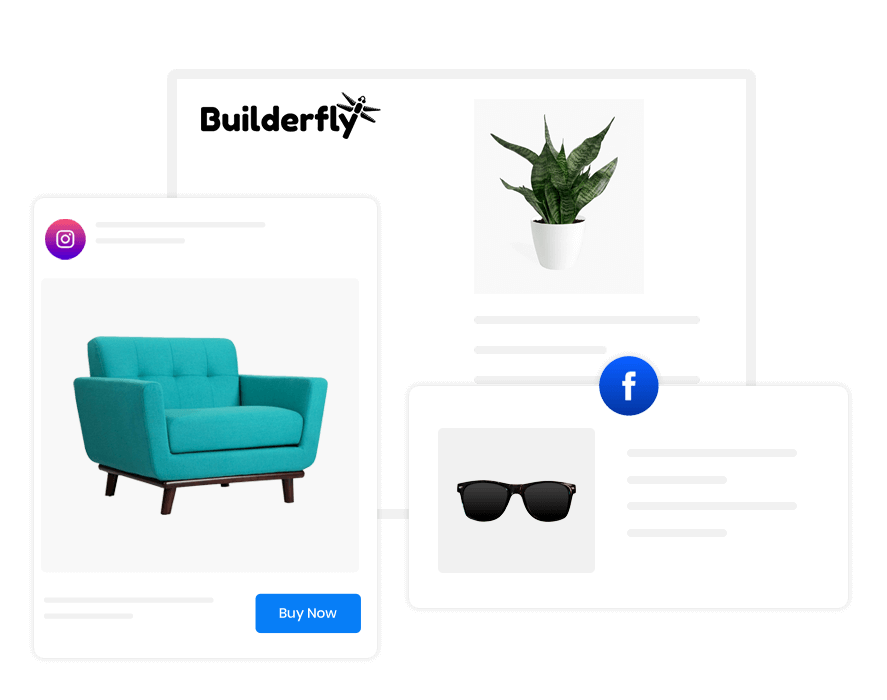 Builderfly lets you sell products from your own ecommerce website that stands out from the rest. It would be attractive, effective, and productive.