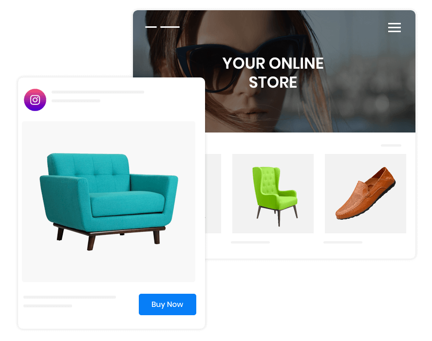 The product catalog section in ecommerce websites is meant to showcase all the product categories in the online store. And, with Builderfly, you get to market these from your own website and grow your business.